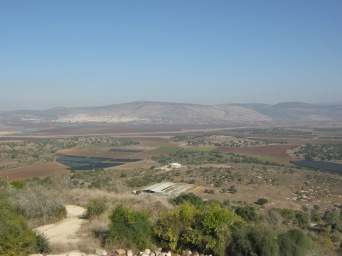 Agricultural land near Sepphoris, looking towards the ruins of Cana (in the far right) where Jesus performed his first miracle.