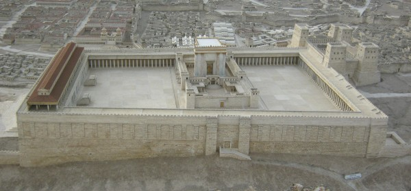 Model of the Second Temple. From the Israel Museum in Jerusalem.