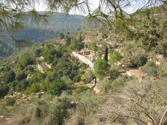 Roman era village and agricultural terracing on a hillside at Safat, near Ein Karem.