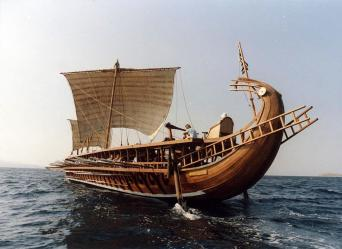"""We have heard that the Persians were the first who fashioned the chariot, and bed, and footstool; and the Sidonians the first to construct a trireme."" -- Clement of Alexandria, Stromata, 1.16."