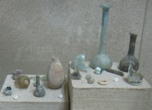 Roman glassware. In the Ecce Homo Convent, Jerusalem, Israel.