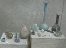 Roman glassware. In the Ecce Homo Convent, Jerusalem, Israel.