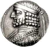 Coin of Orodes I of Parthia.