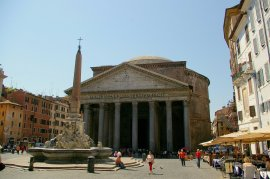 The Pantheon in Rome, where Africanus founded and directed a library on behalf of the young Alexander Severus.