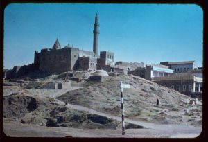 The shrine at Nebi Yunus, sometime between 1950 and 1977.