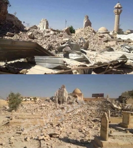 Destruction of the Shrine of the Forty, Tikrit (source).