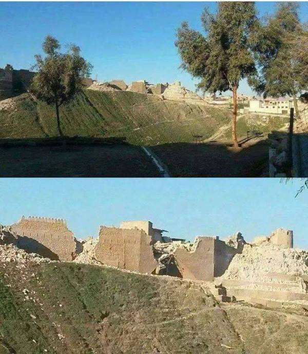 Tal Afar Citadel, c. January 5, 2015 showing heavy damage.