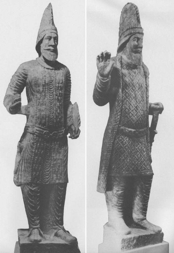 Statues from 0:08, 2:50 and 3:11. Left: Statue of an unidentified king of Hatra. Right: Statue of King Uthal. Safar and Mustafa, Hatra: The City of the Sun God, p. 208-210.