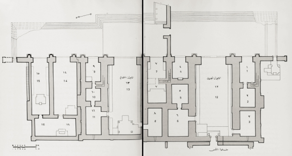 Plan of the Great Iwan at Hatra. From Safar and Mustafa, Hatra: City of the Sun God, p. 332-333.