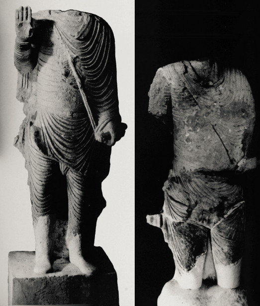 Statues of worshipers from Hatra. From Safar and Mustafa, Hatra: City of the Sun God, p. 90-91.