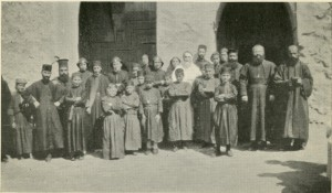 Syriac Catholic monks at Mar Behnam in the early 1920s.
