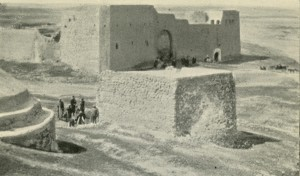 The monastery seen in the early 1920s. The tomb is in the foreground.