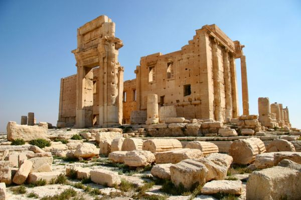Temple of Bel in Palmyra in 2005. (source)