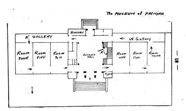 Top plan of the Palmyra Museum. From al-As'ad, Welcome to Palmyra, p. 81.