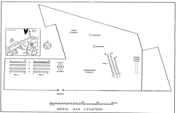 Plan of the Mosul War Cemetery. (Commonwealth War Graves Commission).