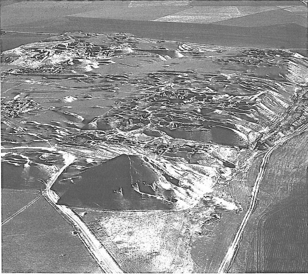 Aerial view of Nimrud's ziggurat. From Oates and Oates, Nimrud: An Assyrian Imperial City Revealed, p. 105.