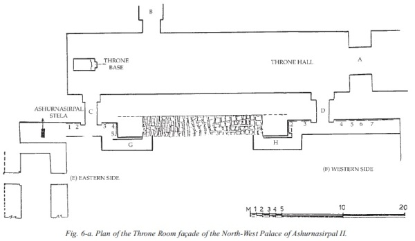 Plan of the reconstructed throne room. From New Light on Nimrud, p. 50.